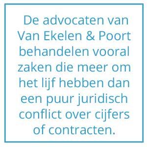 Quote groei Van Ekelen & Poort