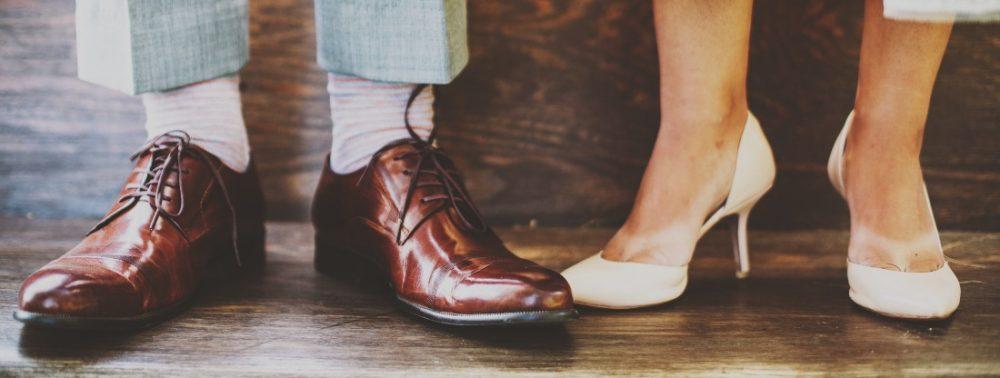 Schoenen bruidspaar